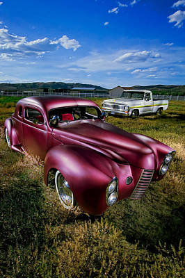Millers Chop Shop 1940 Ford Coupe Poster by YoPedro