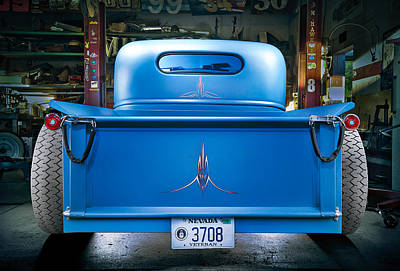 Millers Chop Shop 46 Chevy Truck Rear Poster