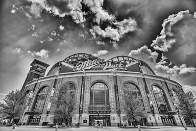 Milwaukee Brewers Miller Park 7 Poster by David Haskett