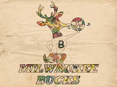 Milwaukee Bucks Retro Poster Poster by Florian Rodarte