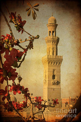 Poster featuring the photograph Minaret In Old Cairo Capital Of Egypt by Mohamed Elkhamisy