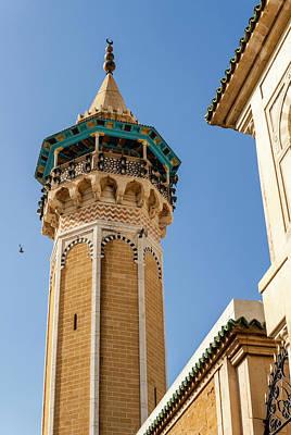 Minaret Of Youssef Dey Mosque, Tunisia Poster by Nico Tondini