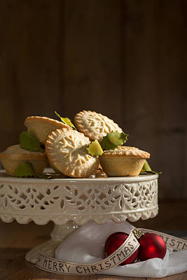 Mince Pie Display Poster by Amanda Elwell
