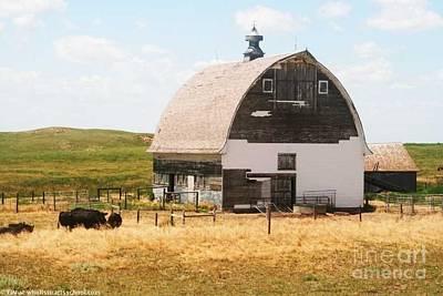 Minden Nebraska Old Farm And Barn Poster by PainterArtist FIN