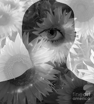 Minds Eye B/w Poster by Elizabeth McTaggart