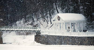 Mineral Spring Pavilion Poster by Mary Beth Landis