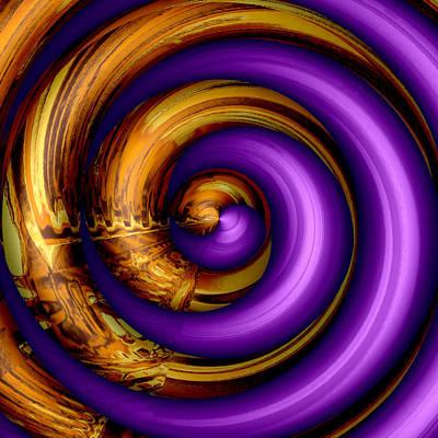 Mingle - Purple Poster by Wendy J St Christopher