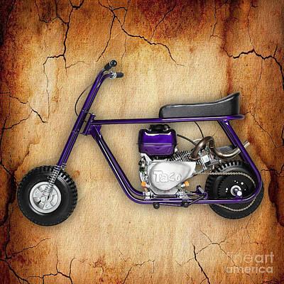 Mini Bike Taco 22 Poster by Marvin Blaine