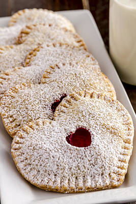 Mini Cherry Heart Pies Poster by Teri Virbickis