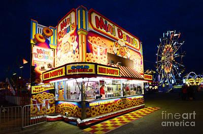 Mini Donuts Kiosk Poster by Bob Christopher