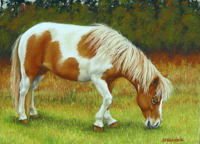 Poster featuring the pastel Mini Mare Pastel by Margaret Stockdale