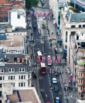 Miniature Oxford Street Poster by Matt Malloy