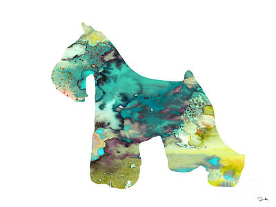 Miniature Schnauzer  Poster by Watercolor Girl
