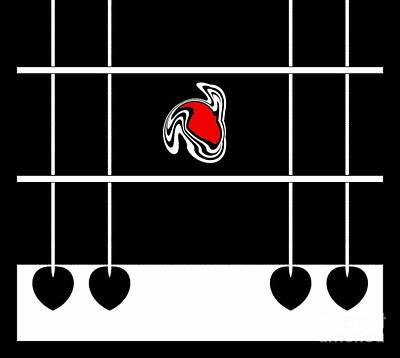 Minimalism Abstract Black White Red Art No.229. Poster by Drinka Mercep