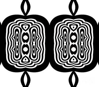 Minimalism Art Black White Abstract No.335. Poster