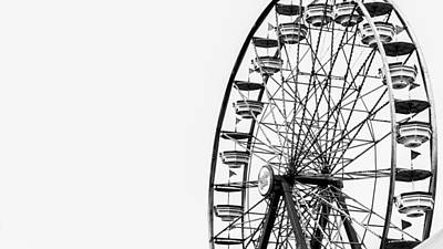 Minimalist Ferris Wheel Poster by Jon Woodhams