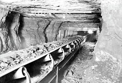 Mining Equipment - Conveyor, 1936, Lewis Hine Poster