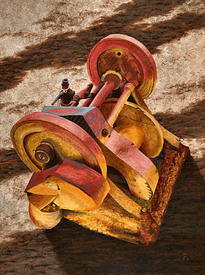Mining Hoist Poster by JoAnne Rauschkolb
