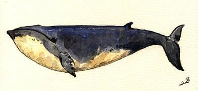 Minke Whale Poster by Juan  Bosco