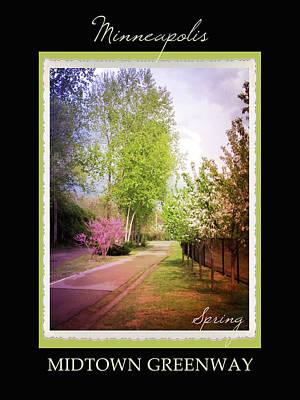 Minneapolis Seasons Spring Poster by Heidi Hermes