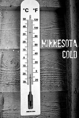Minnesota Cold Poster by Amanda Stadther