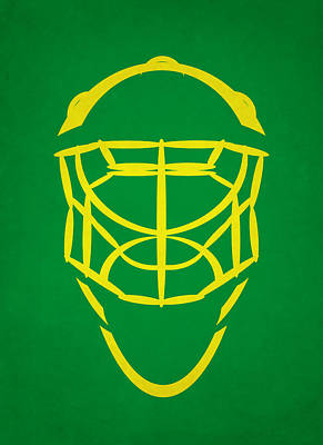 Minnesota North Stars Goalie Mask Poster by Joe Hamilton