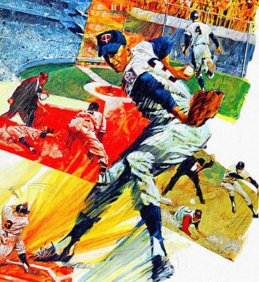 Minnesota Twins 1968 Yearbook Artwork Poster