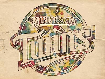 Minnesota Twins Poster Vintage Poster by Florian Rodarte