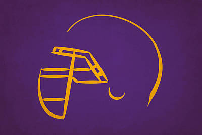 Minnesota Vikings Helmet Poster by Joe Hamilton