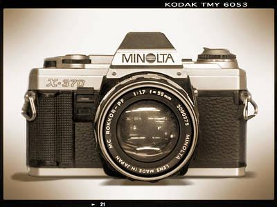 Minolta X-370 Poster by Mike McGlothlen