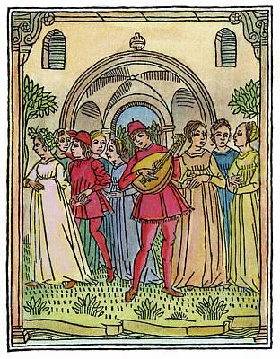 Minstrel, 1492 Poster by Granger