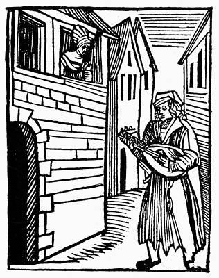 Minstrel, 16th Century Poster by Granger