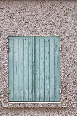 Mint Green French Window Shutters Poster