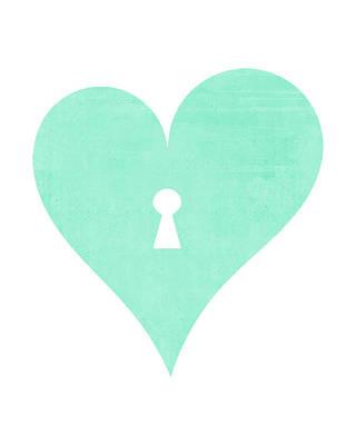 Mint Heart Lock Poster