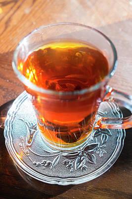 Mint Tea, Cafe, Amman, Jordan Poster by Peter Adams