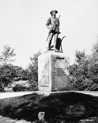 Minuteman Statue Poster