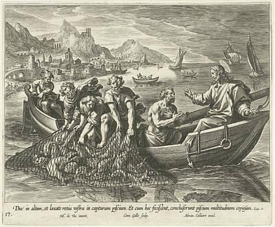 Miraculous Fishing, Cornelis Galle I, Adriaen Collaert Poster