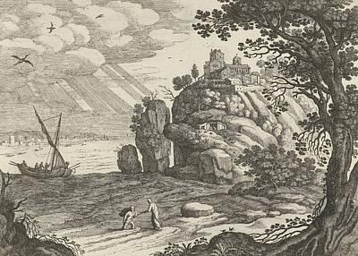 Miraculous Fishing, Willem Van Nieulandt II Poster