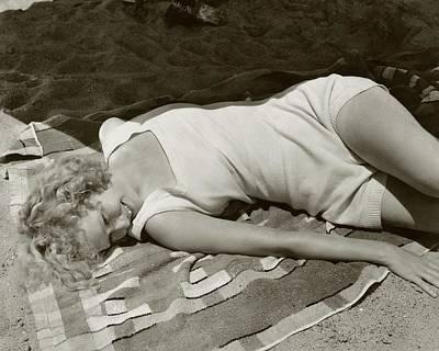 Miriam Hopkins At The Beach Poster by Edward Steichen