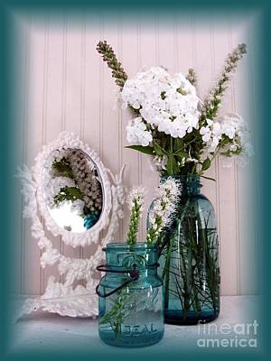 Mirrored Bouquet 1 Poster by Margaret Newcomb