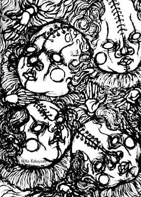 Miscellaneous Clown  Poster by Akiko Okabe