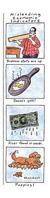 Misleading Economic Indicators Poster by Danny Shanahan