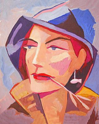 Miss Fisherman Poster by Lutz Baar
