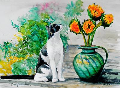 Da129 Miss Kitty Daniel Adams Poster