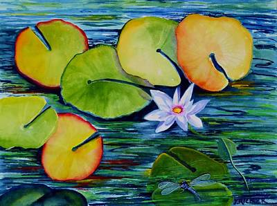 Whimsical Waterlily Poster