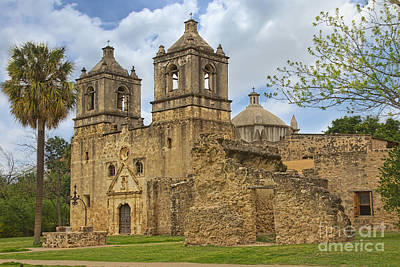 Poster featuring the photograph Mission Concepcion by Jemmy Archer