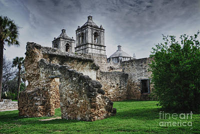 Mission Concepcion San Antonio Texas Poster by Gerlinde Keating - Galleria GK Keating Associates Inc