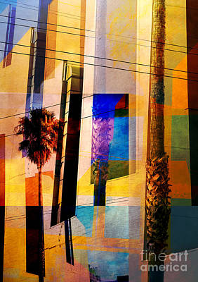 Mission District Palm Trees Poster by Elena Nosyreva