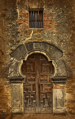 Poster featuring the photograph Mission Espada Doorway by Jemmy Archer