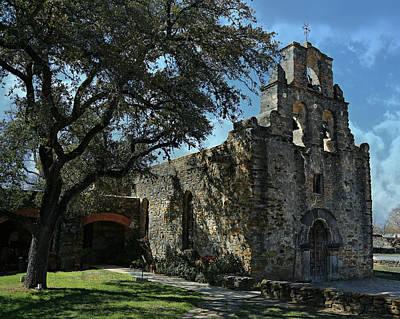 Mission San Francisco De La Espada -- San Antonio Mission Trail Poster by Stephen Stookey
